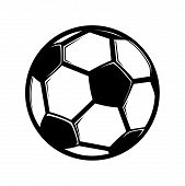 Soccer Ball Vector Icon Flat Style Illustration For Web, Mobile, Logo, Application And Graphic Desig poster
