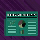 Conceptual Hand Writing Showing Perforanalysisce Improvement. Business Photo Showcasing Improve Prod poster