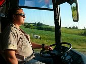 picture of ling  - The young bus driver on the roads of Lithuania - JPG