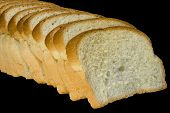 Slices Of Bread Isolated On Black Background With Clipping Path