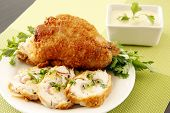 Golden Stuffed Chicken