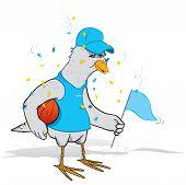 Basketball fan bird