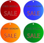 Cyber Monday Sale On Muti Colors Circle Labels