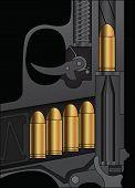 A Handgun Sectional Drawing
