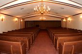 stock photo of funeral home  - chapel in funeral home  - JPG