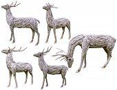 Reindeer Antlers Made From Wood
