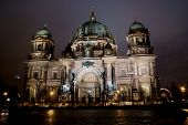 Berlin Catherdral At Night