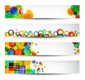 Four colorful banners for web or print.