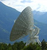 stock photo of wiretap  - parabolic antenna satellite land earth station - JPG