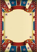 US grunge frame. Dirty american background with a large frame for your message