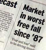Queda do mercado livre