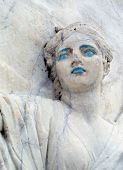 image of clevage  - detail of marble relief - JPG