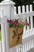 Blumen auf einem Zaun