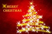 Christmas background with tree and greetings