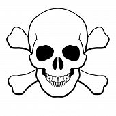 stock photo of skull crossbones  - Pirate Skull and Crossbones - JPG