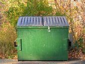 Green Trash Dumpster
