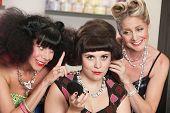 Trio Of Women In Hair Salon