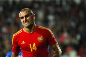YEREVAN - OCT. 12: Yura Movsisyan of Armenian National Team during the match Armenia-Italy 1:3 2014