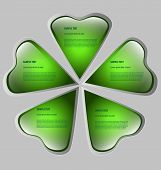 Cloverleaf-shaped presentation/option template