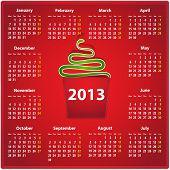 2013 Calendar In English