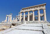 Temple of Afaia at Aegina in Greece.