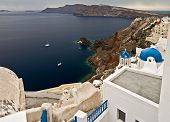 Bay Of Santorini Island, Greece