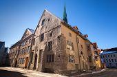 stock photo of olaf  - Street view on old town of Tallinn Estonia - JPG