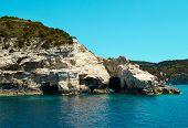 stone caves, Ionian sea