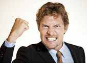 Angry Businessman Threatening