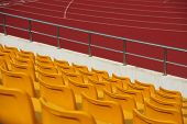 stock photo of bleachers  - Stadium bleachers - JPG