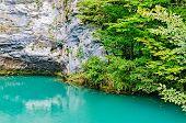 Blue Lake In Abkhazia.
