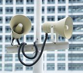 PA / Public Address system speakers