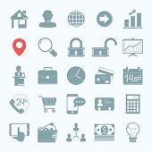 WEB business icons set