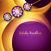 image of rakhi  - beautiful rakhi background design art - JPG
