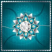 stylish vector rakhi background design