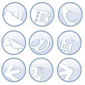 icon set light blue