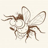 vintage fly cartoon
