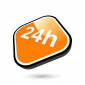 modern 24 hour sign