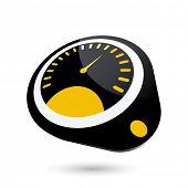 modern tachometer sign