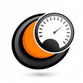 cartoon speedometer sign