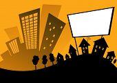 cartoon retro city