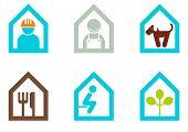 coleção de sinal de casa moderna