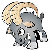 lustige Cartoon-ram