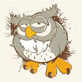 vintage cartoon owl