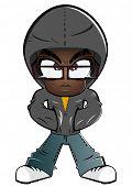 cute cartoon gangster boy