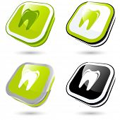 modern tooth sign collection in 3D