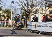 The Cyclist Sorensen Nicki- Paris Nice 2013 Prologue In Houilles