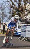 The Cyclist Geniez Alexandre- Paris Nice 2013 Prologue In Houilles