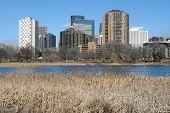 Minneapolis Skyline In Background
