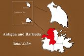Antigua And Barbuda - Saint John Highlighted
